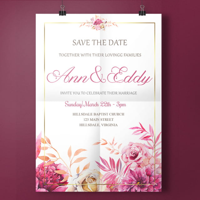 hand writing wedding invitation template for free download on pngtree