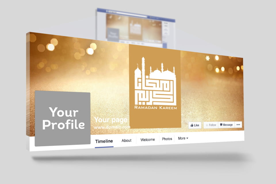 arabic ramadan facebook cover Template for Free Download on Pngtree