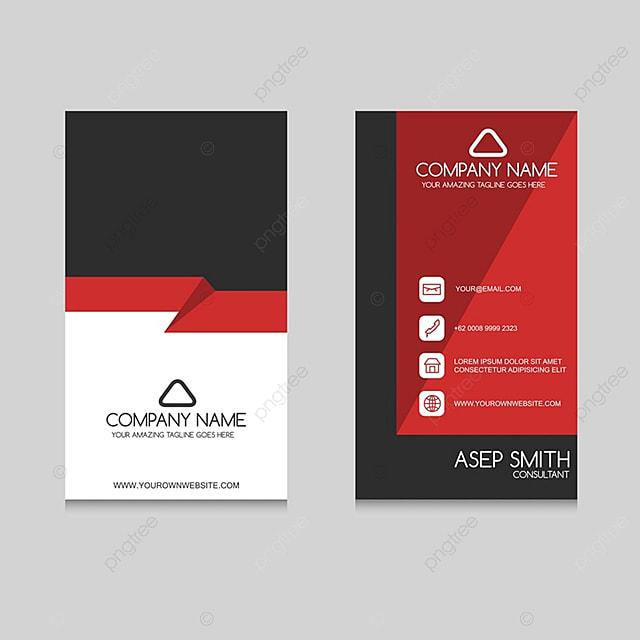 Rot Schwarze Visitenkarte Vorlage Zum Kostenlosen Download