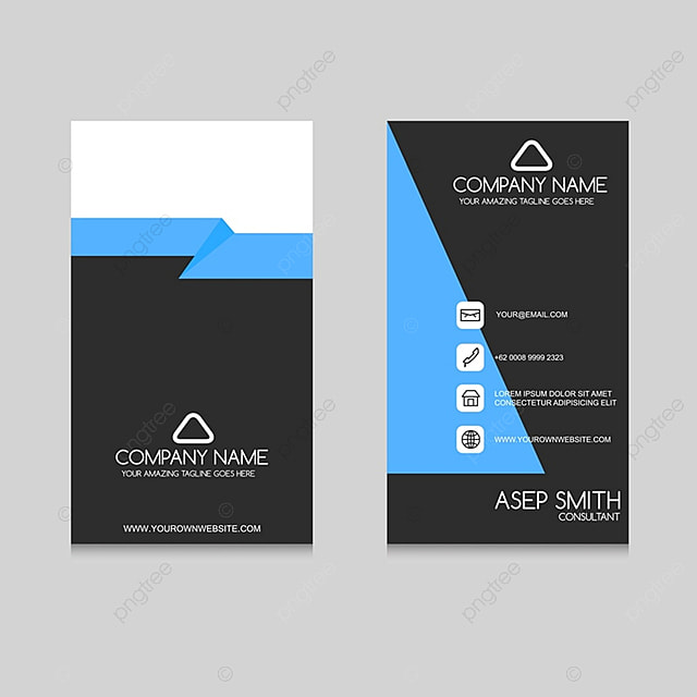 Blue business card template for free download on pngtree blue business card template cheaphphosting Image collections