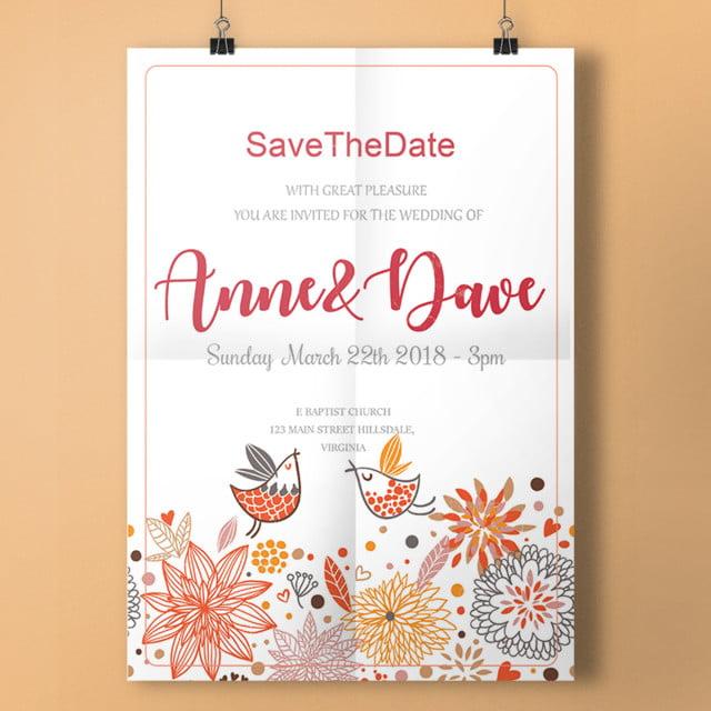 Cute Wedding Invitation Template