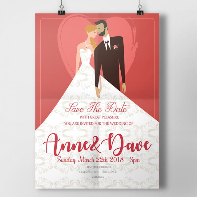 Groom And Pride Wedding Invitation Template For Free Download On Pngtree