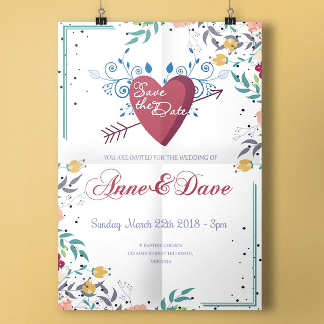 save the date invitation template for free download on pngtree