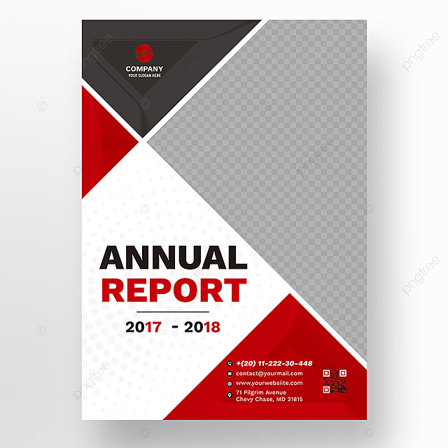Red Wavy Annual Report Template Template For Free Download On Pngtree