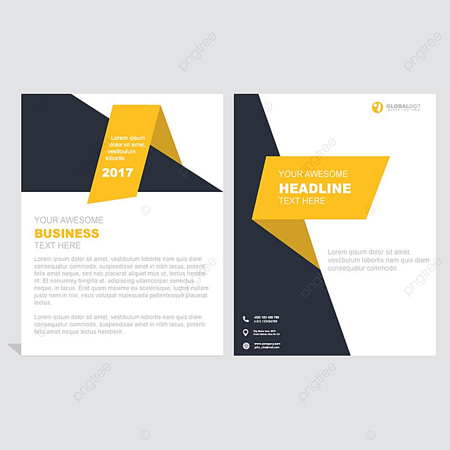 business brochure template with geometric shapes template for free