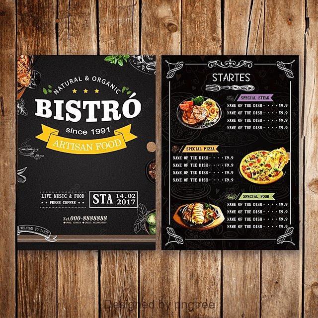 Plantillas de menu Descarga gratuita de plantilla en Pngtree