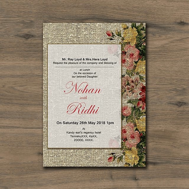 rustic wedding invitation template