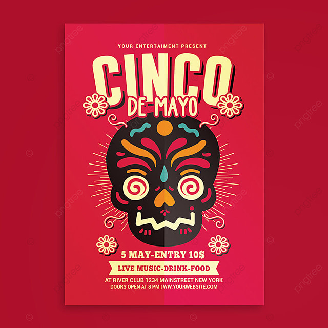 cinco de mayo flyer template for free download on pngtree