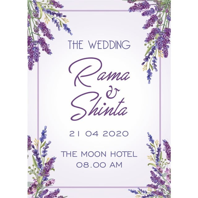 Lavender Wedding Invitation Wedding Menu Template for Free