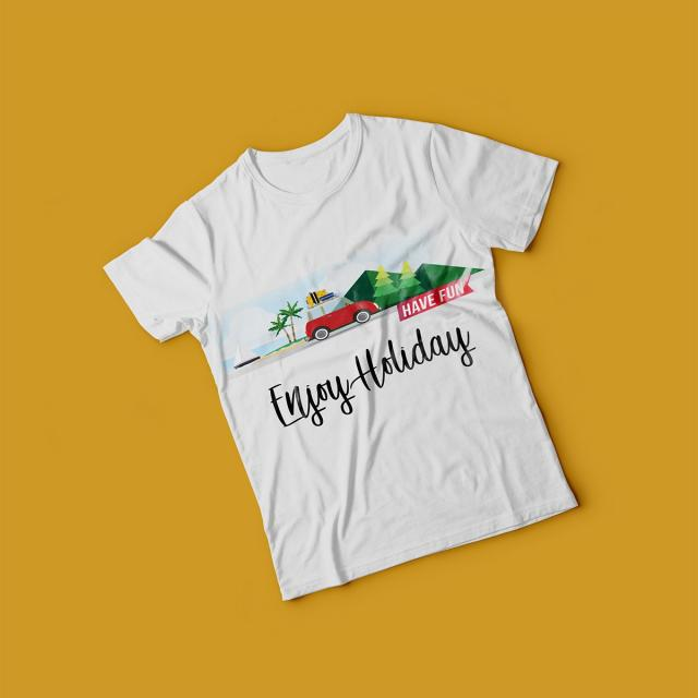 creative holiday t shirt mockup template