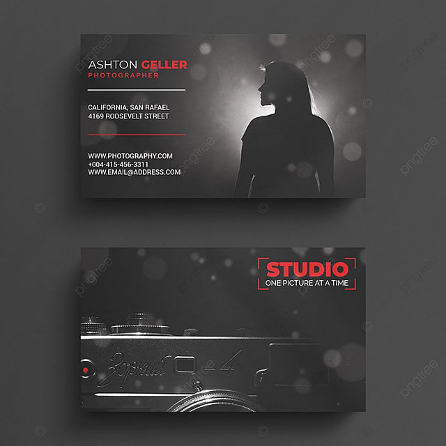 Photography Business Card Template For Free Download On Pngtree