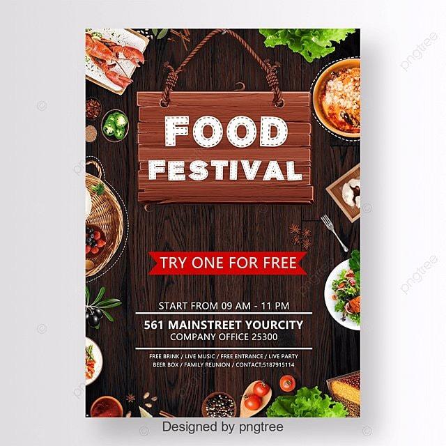 festival de comida poster modelo para download gratuito no