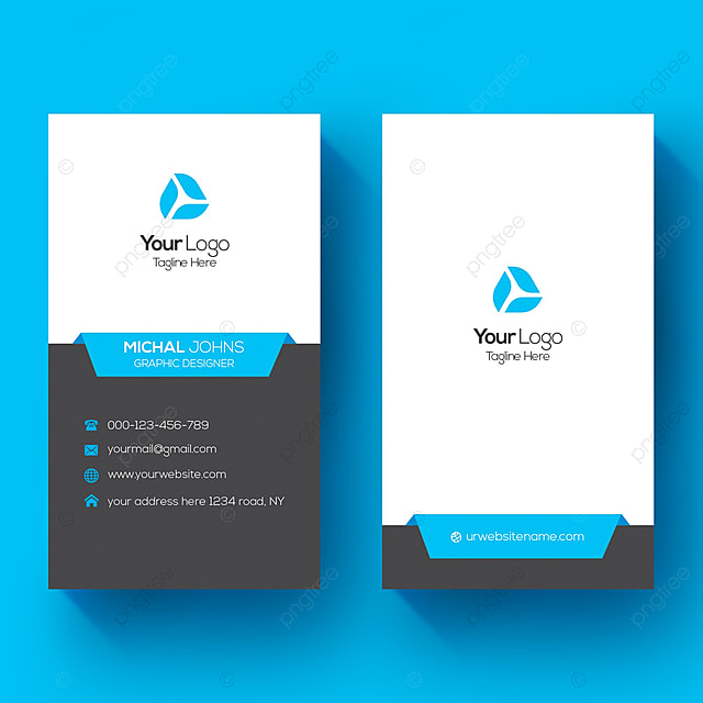 vertical business card template for free download on pngtree