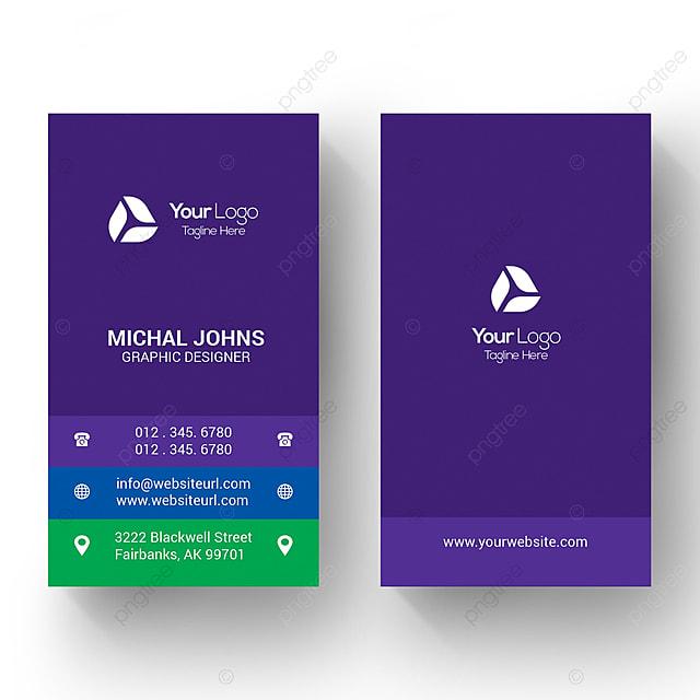 Vertikale Visitenkarten Vorlage Zum Kostenlosen Download Auf