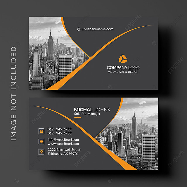 black business card template for free download on pngtree