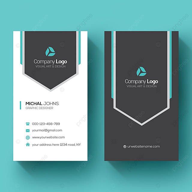 Vertical Business Card Modelo Para Download Gratuito No