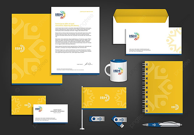corporate identity design stationery template for free download on