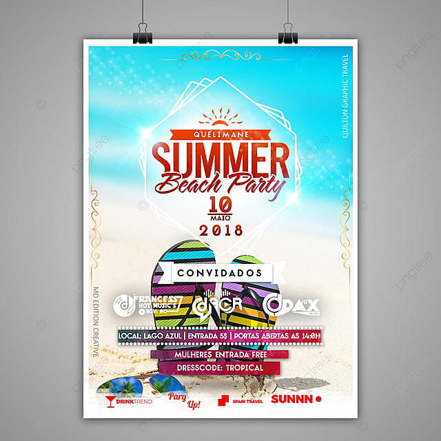 Summer Beach Party Poster Template For Free Download On Pngtree