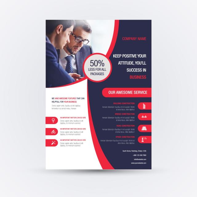 Business Dashboard Flyer Free Download: Corporation Business Flyer Template For Free Download On