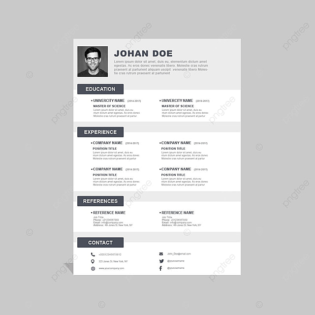 curriculum vitae template for free download on pngtree