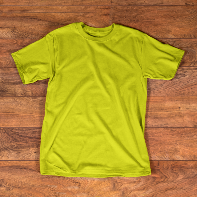 T Shirt Yellow Mockup Template