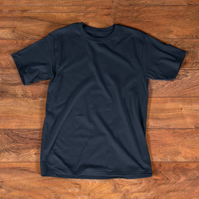 T Shirt Navy Mockup Template