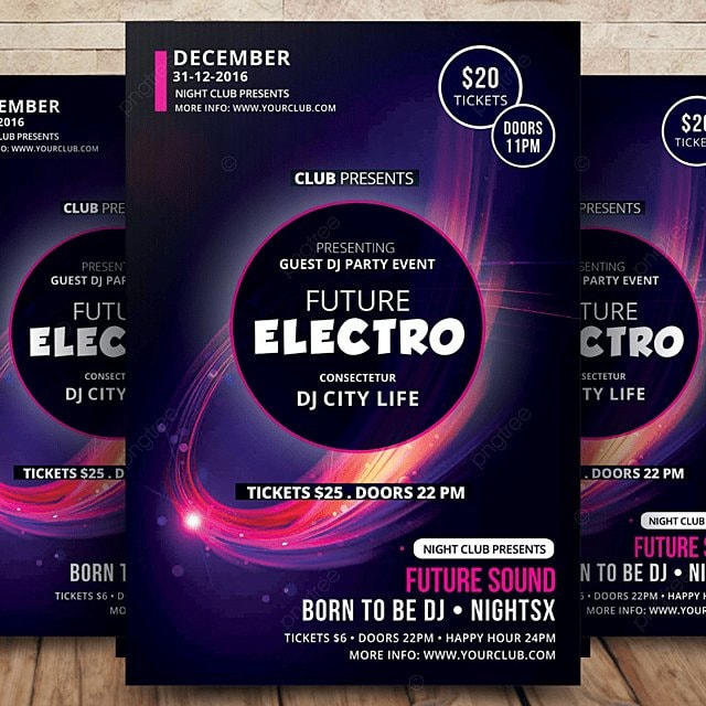 Electro Future Flyer Template for Free Download on Pngtree