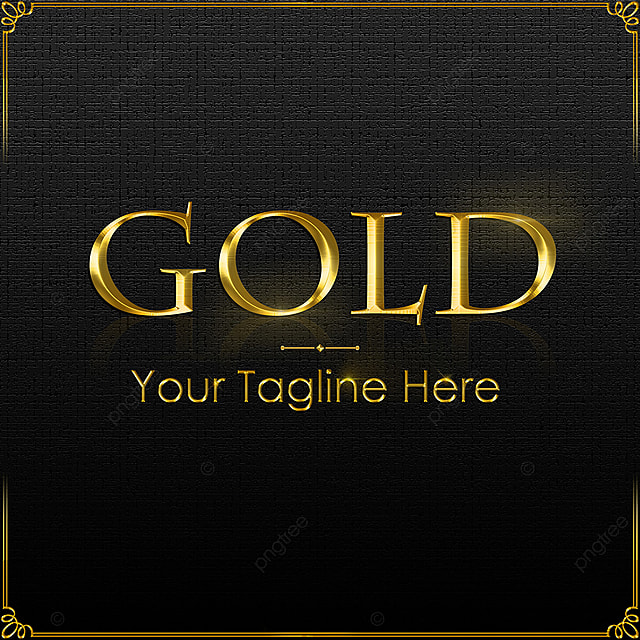 Gold Effect Logo Mockup Template For Free Download On Pngtree