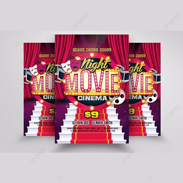 movie theater flyer templates template for free download on pngtree