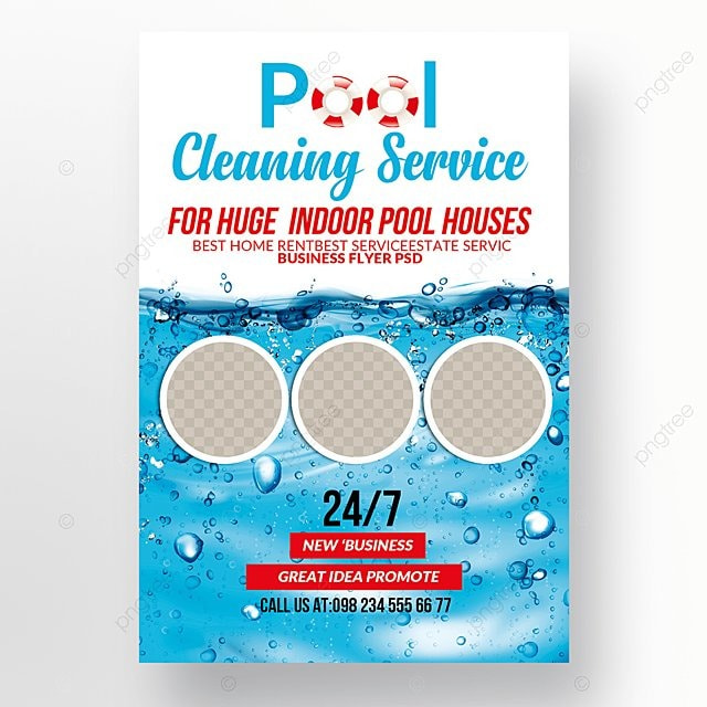 pool cleaning flyer template for free download on pngtree