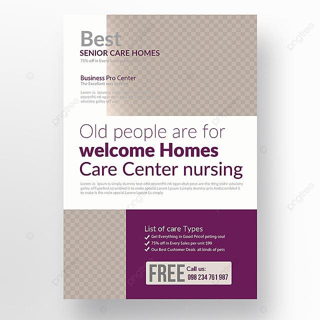 Senior Care Center Flyer Template For Free Download On Pngtree - Nursing flyer templates