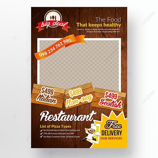 pngtreeにレストランフライヤーテンプレートテンプレートの無料ダウンロード
