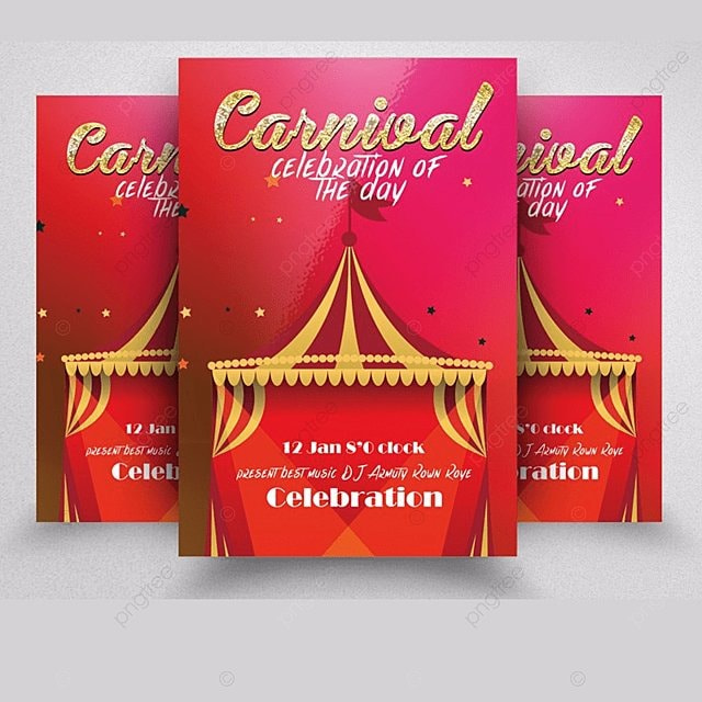 carnival flyer templates template