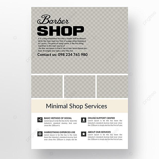 barbershop flyer templates template