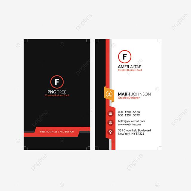 Aktuelle Visitenkarte Design Vorlage Zum Kostenlosen
