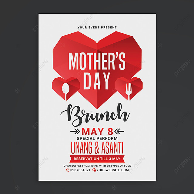 mothers day brunch flyer template for free download on pngtree