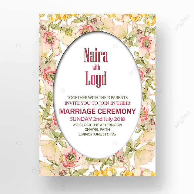 Pastel Color Themed Wedding Invitation Template