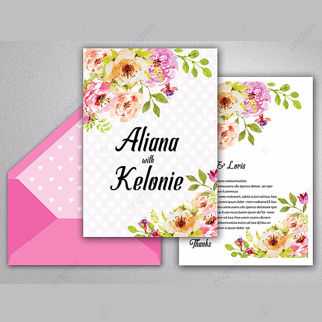 wedding floral invite template template for free download on pngtree