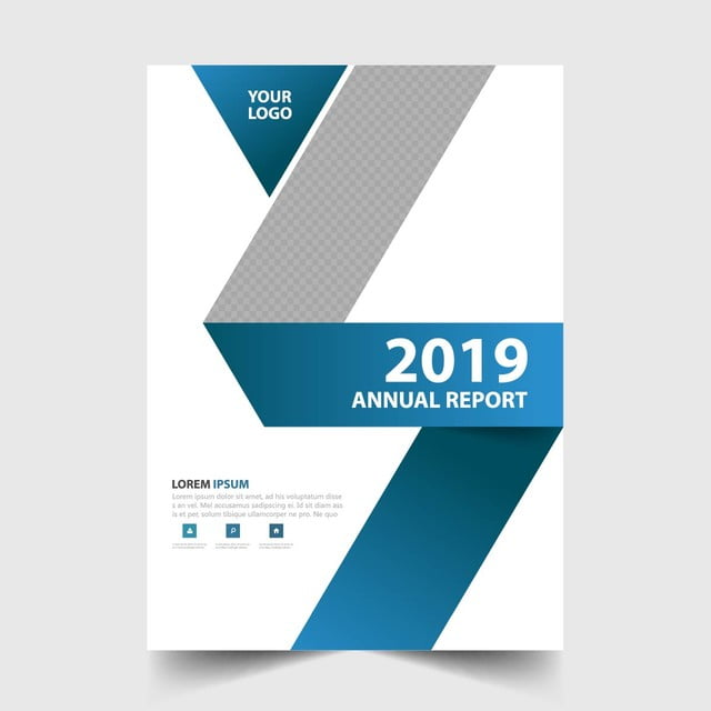 Brochure Design Brochure Design Templates Png: Blue Annual Report Brochure Design Vector Template For