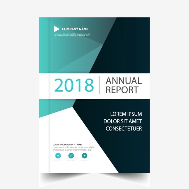 Blue Annual Report Design Vector Template For Free Download On Pngtree