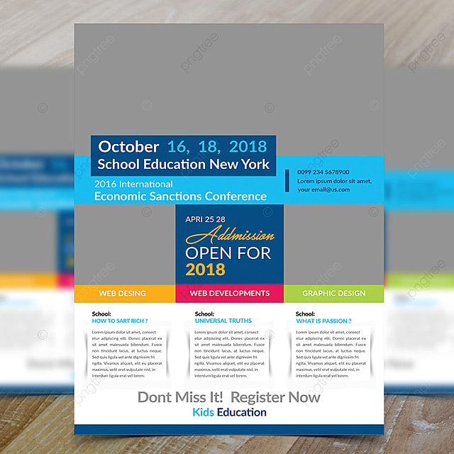 open addmission school flyer template for free download on pngtree