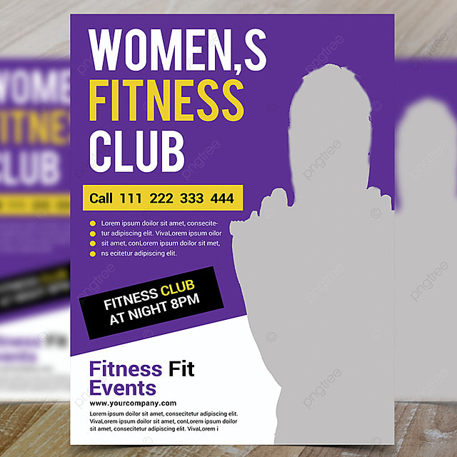 Fitness Club Flyer Psd Template for Free Download on Pngtree