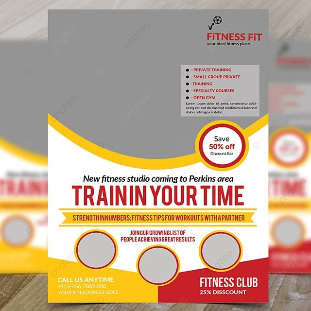 jym training flyer psd template for free download on pngtree