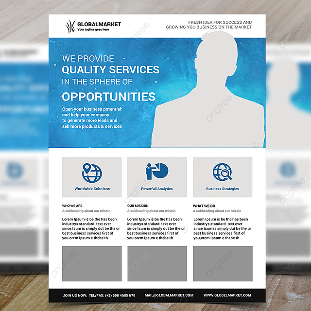 Business Services Flyer Psd Template for Free Download on