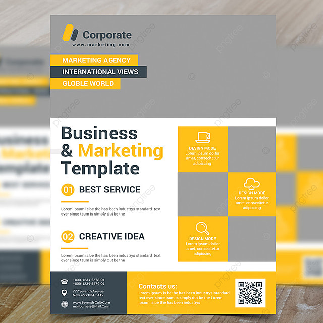 Marketing Flyer | Business Marketing Flyer Descarga Gratuita De Plantilla En Pngtree