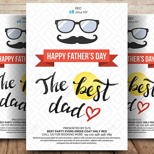 Happy Father day Flyer PSD Free Template