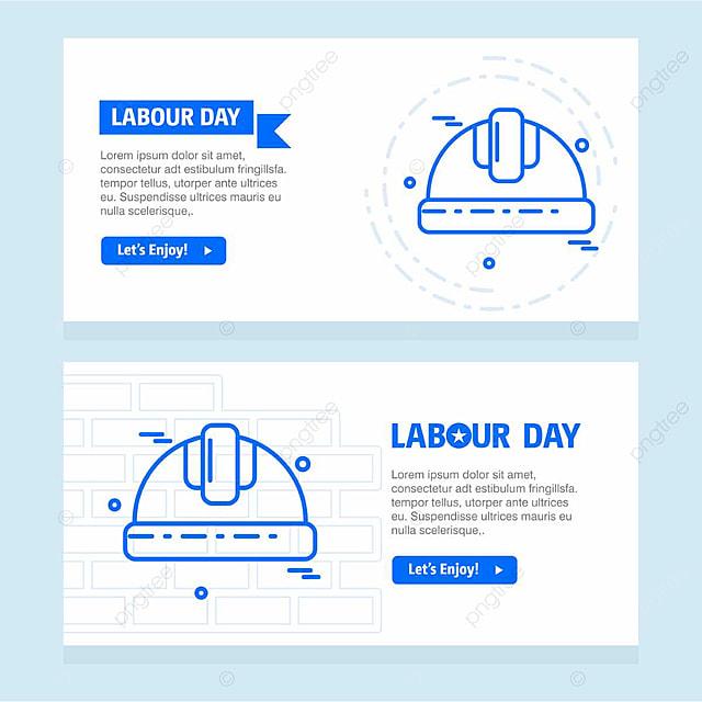 glücklich, den tag der arbeit design mit blue theme karte vector ...