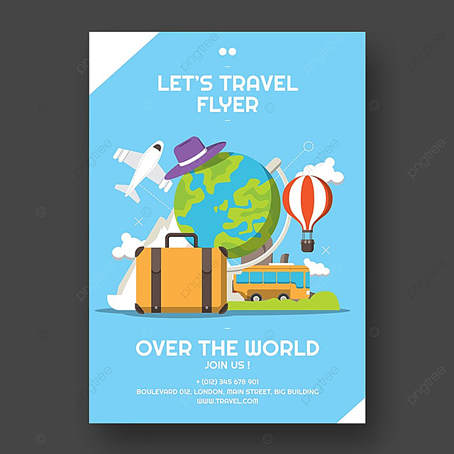 travel flyer template template for free download on pngtree