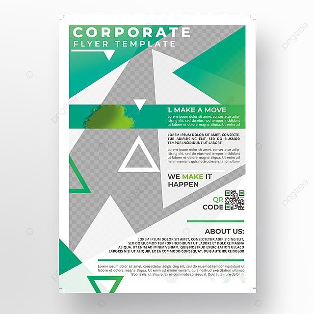 Green Modern Flyer Template For Free Download On Pngtree
