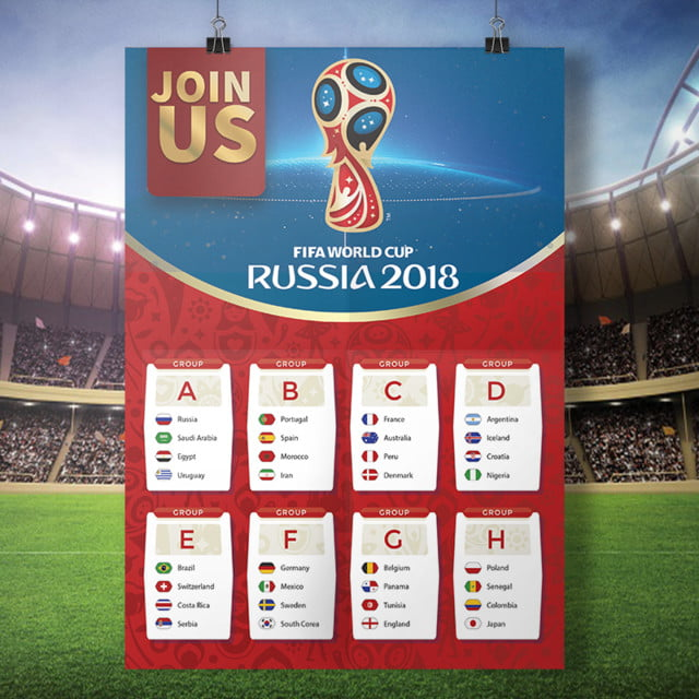 24c7dbc64 FIFA world cup russia 2018 groups poster Template for Free Download ...